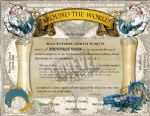 Metal Signs -Around The World Cert